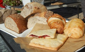 An artistic array of FLOUR's products (HOPE market)