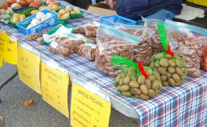 There are still plenty of fresh pecans to be had at the Sand Creek Farm table (Barton Creek)