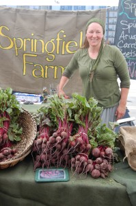 A lovely photo of Springfield Farm's fresh young beets