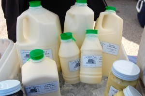 The full line of Full Quiver Farms milk